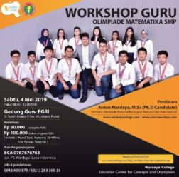 Workshop Olimpiade Matematika SMP, 4 Mei 2019